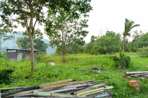Contractor trash and building materials - Pantai Hill orchard resort