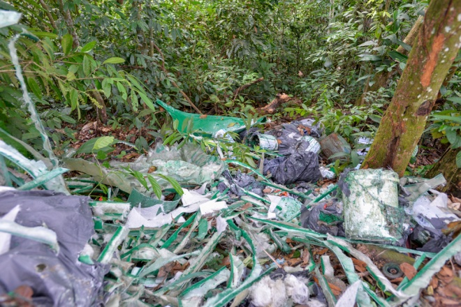 Pantai Hill trash adds to environmental destruction