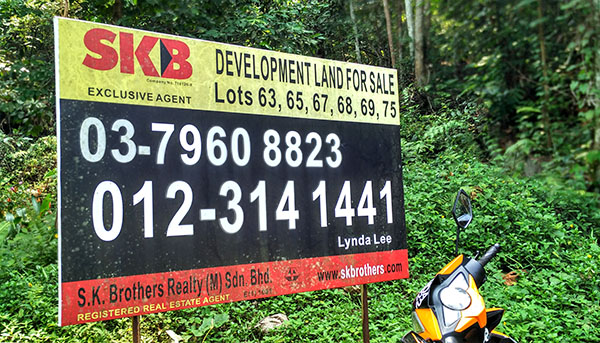 Developer of Pantai Hill Orchard Resort - advertising 'Development land'!! for sale